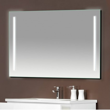 Espejo 120x60 cm con una franja de iluminación
