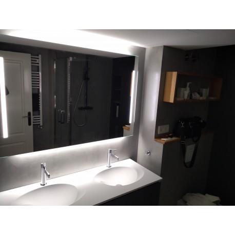 Espejo iluminados led 100x70 cm doble iluminacion
